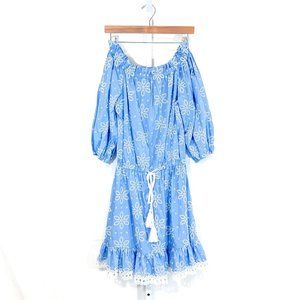 Shoshanna Off-The-Shoulder Embroidery Mini Dress